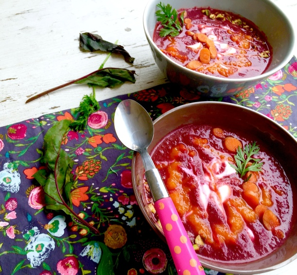 Beet, Carrot and Ginger Soup with Coconut Milk4