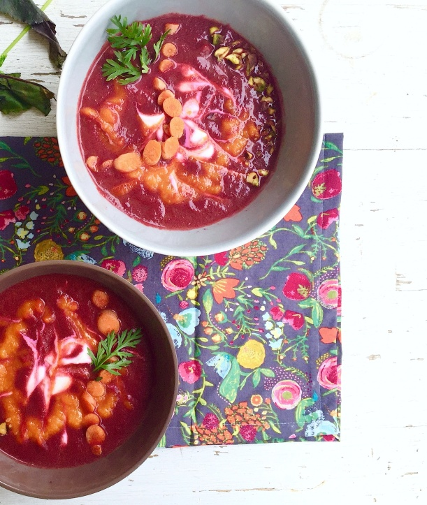 Beet, Carrot and Ginger Soup with Coconut Milk5