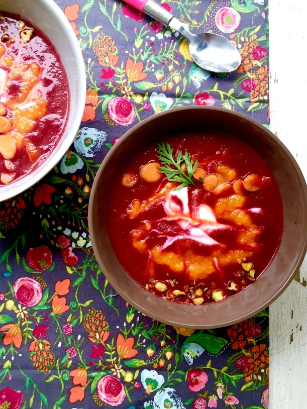 Beet, Carrot and Ginger Soup with Coconut Milk6