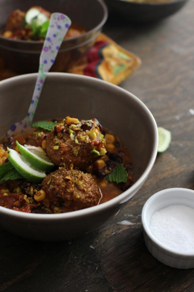 Five-Ingredient Meatball Stew