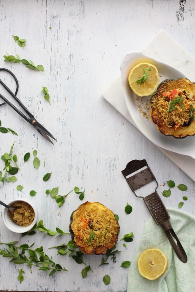 North African Cous Cous Salad with Pistachio Dukkah