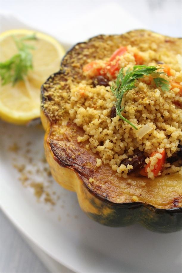 North African Couscous Salad with Pistachio Dukkah