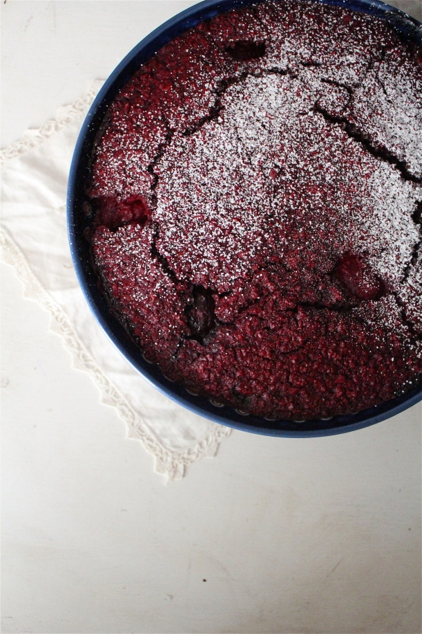 Triple Berry Red Velvet Baked Oatmeal