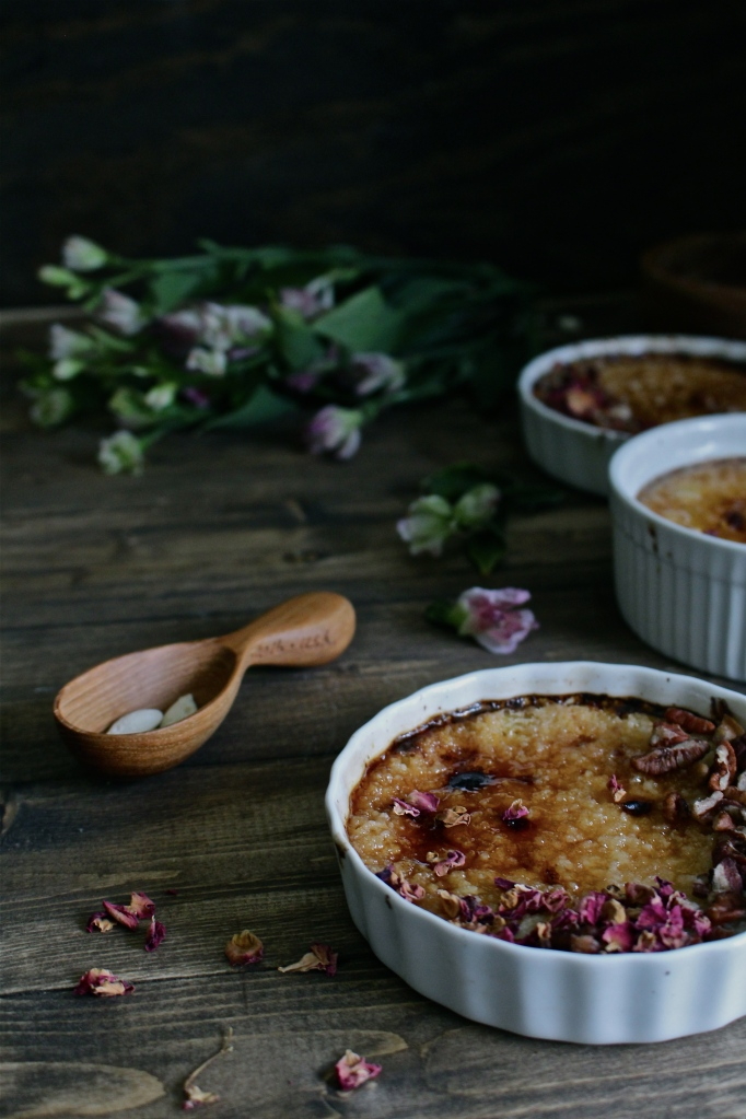 Pumpkin & Maple Creme Brûlée with Toasted Pecans