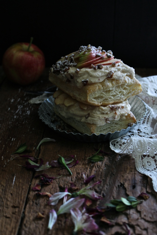 Apple Napoleons with a Cinnamon-Speculoos Mousse and Toasted Pecans