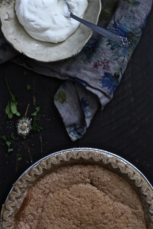 Hibiscus Buttermilk Pie with Whipped Honey Cream