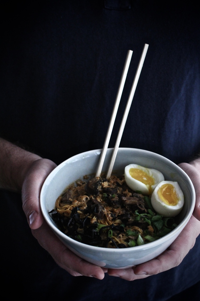 Quick-Fix Spicy Ramen with Tofu, Mushrooms and a Seven-Minute Egg