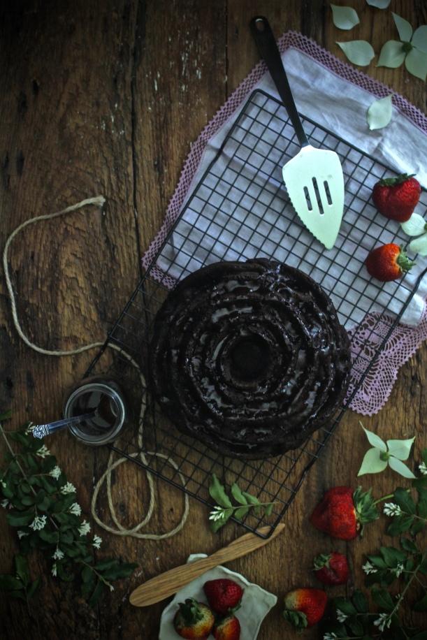 Triple Chocolate Devil's Food cake