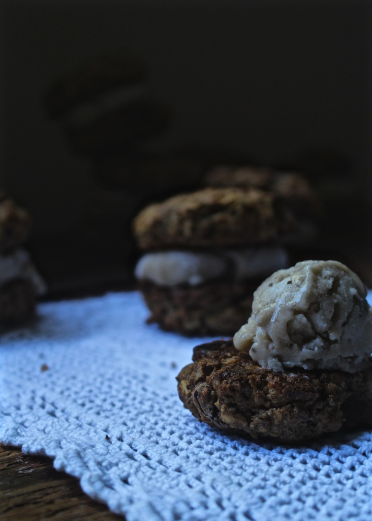 Dark Chocolate Cherry Chunk Breakfast Cookies with Toasted Walnut and Maple N'ice Cream