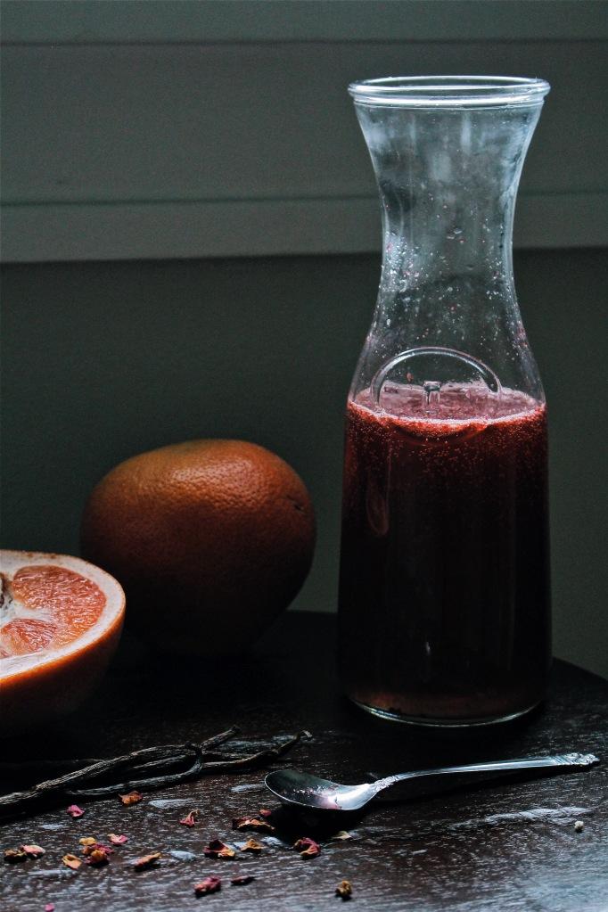 Fresh Grapefruit, Blackberry & Vanilla Bean Soda
