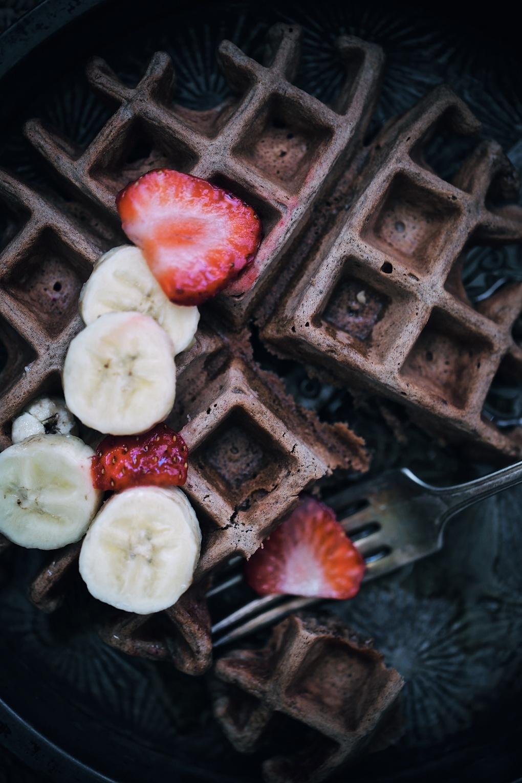 Boozy bourbon chocolate waffles